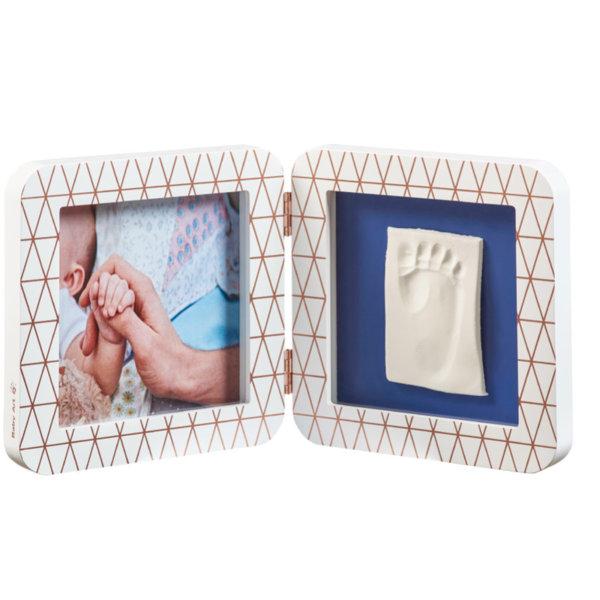 BABY ART Отпечатък  Print квадратен - бяла + декор рамка BA-00011 Copper